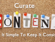 Curate blog content to keep it simple