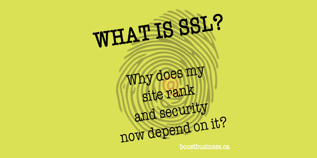 What is SSL and why does my website rank and security now depend on it?